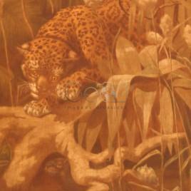 Detalhe do painel 'A Onça caçando a Capivara'