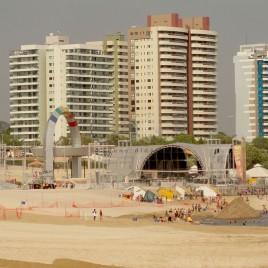 Aterro arenoso na Praia de Ponta Negra