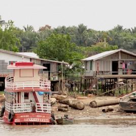 Casas sobre palafitas, rio Negro (AM)