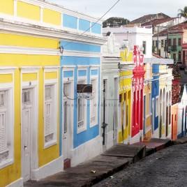 Rua e casas de Olinda, PE
