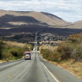 BR 242 na região da Chapada Diamantina