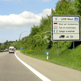 Placa em rodovia alemã