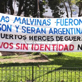 Manifestação em defesa das Malvinas