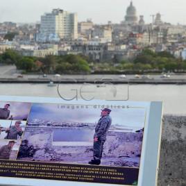 Imagem de Fidel com Havana ao fundo