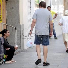 Pedinte em Madrid (Espanha)
