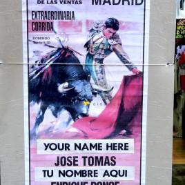 Cartaz anunciando tourada
