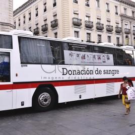 Ônibus em campanha para doação de Sangue