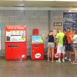 Venda de bilhetes de metrô