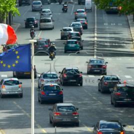 Bandeira da França e União Europeia