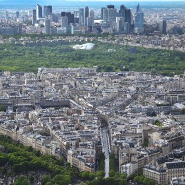 Vista de Paris com La Défense ao fundo