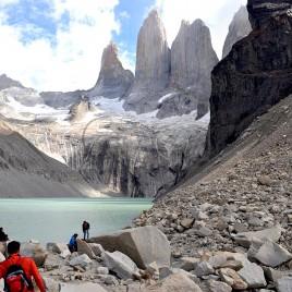 Turistas em Torres del Paine
