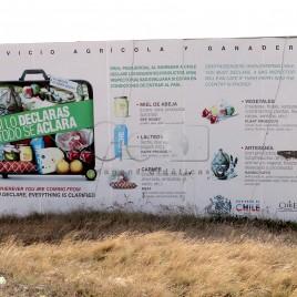 Aviso em fronteira no Chile