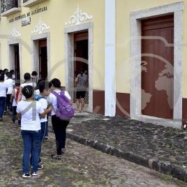 Estudantes visitam Casa Histórica de Alcântara