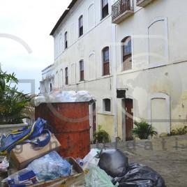 Lixo no centro histórico