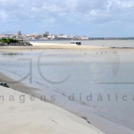 Ponta D'Areia em maré baixa