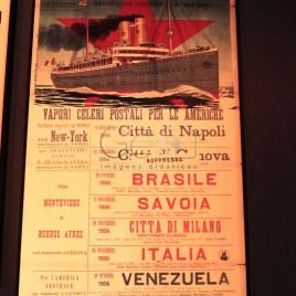 Cartaz promovendo a Emigração Italiana