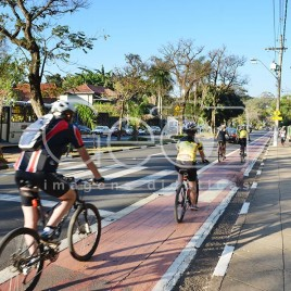 Ciclistas em Campinas (SP)