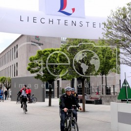 Ciclistas em Lichtenstein