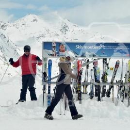 Praticante de Snowboard – Suíça