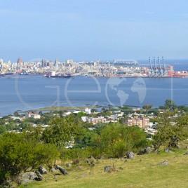 Vista do Porto de Montevidéu – Uruguai