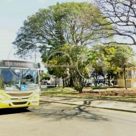 Ônibus em rua de Uberlândia (MG)