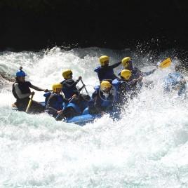 Praticantes de Rafting no Rio Futaleufú – Chile