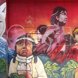 Grafite em homenagem aos Indígenas – Chile