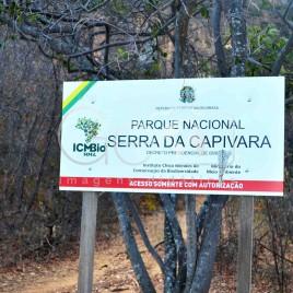 Placa em estrada – Serra da Capivara