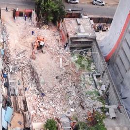 Obras em Casario recém demolido (SP)
