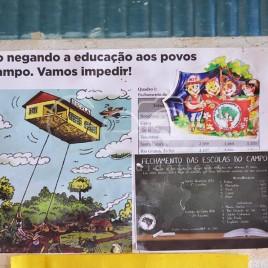 Cartaz em Escola MST – Campo do Meio (MG)