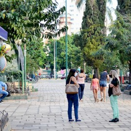 Praça Getúlio Vargas em Alfenas (MG)