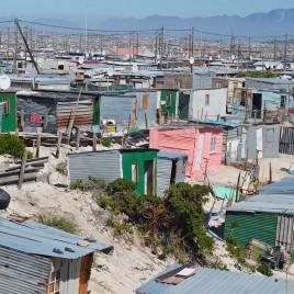 Bairro de Khayelitsha na Cidade do Cabo